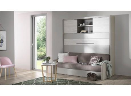 lit escamotable horizontal avec
