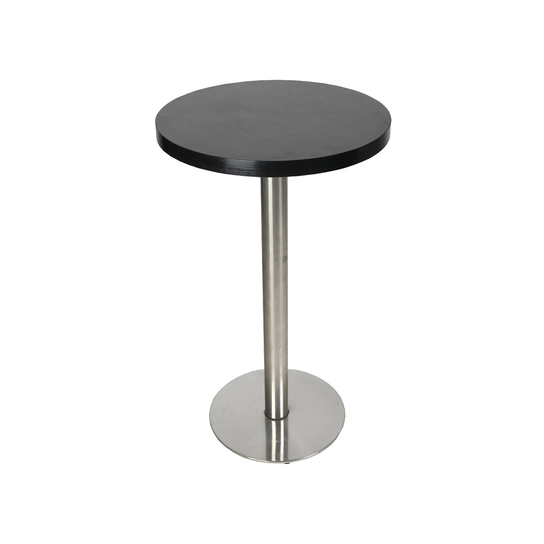 table mange debout 60 60 cm hauteur 104 cm avec pied base ronde en acier ultra plat w52h