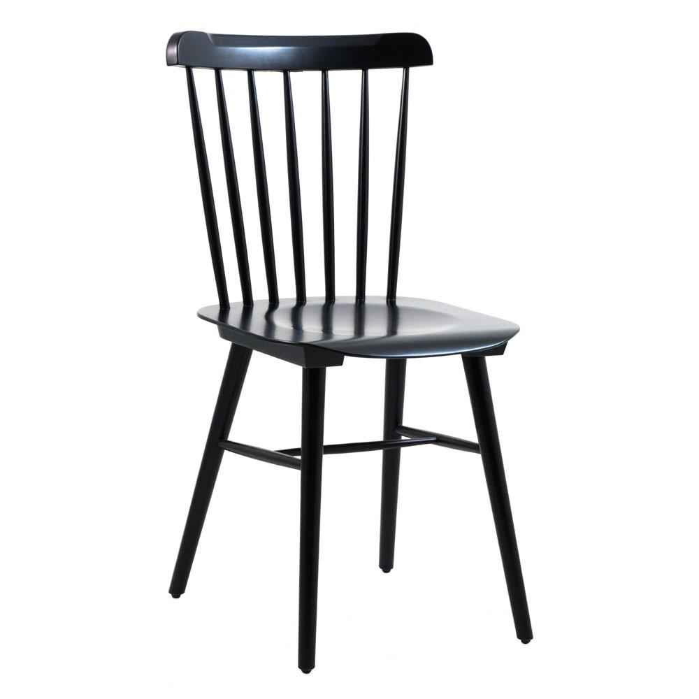 chaise en bois couleur chene clair ou noir