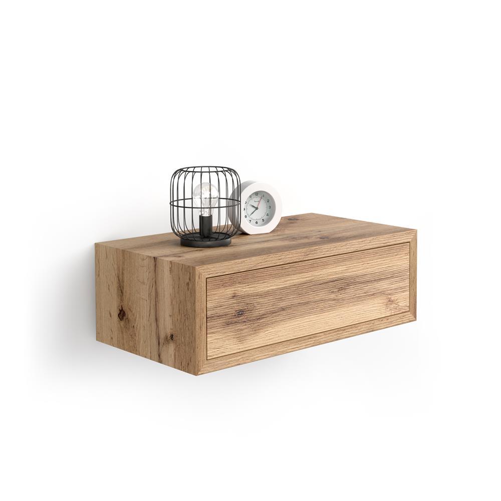 table de chevet suspendue riccardo bois rustique