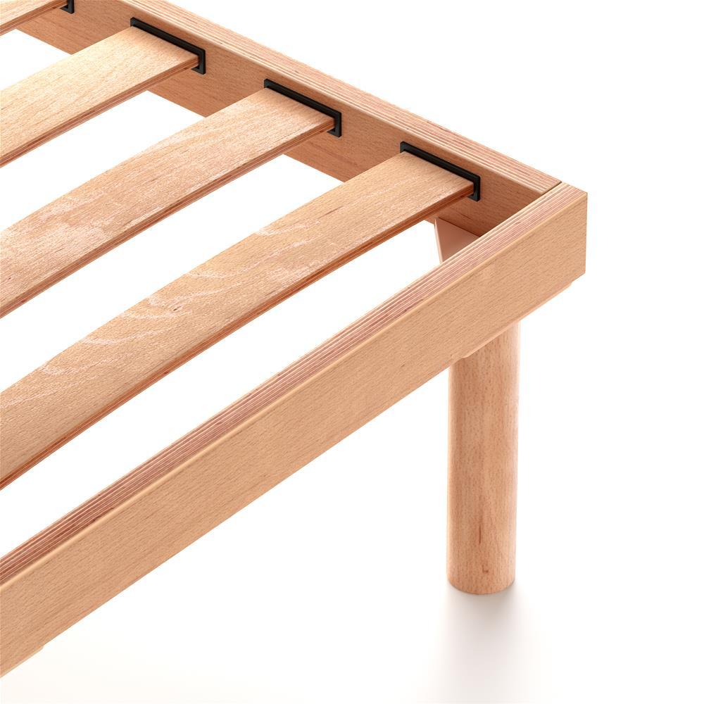 Rete a doghe in legno matrimoniale 160x200 Altezza 31 cm