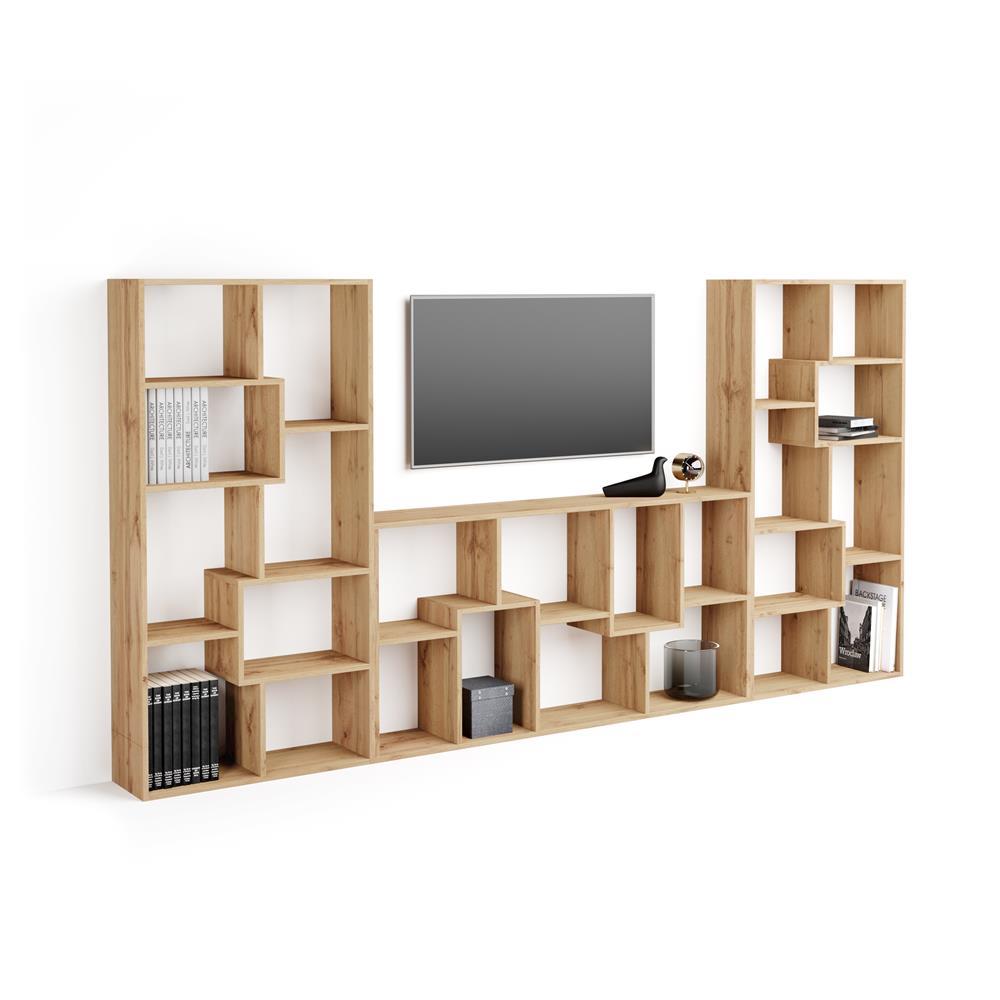 meuble tv mural iacopo bois rustique