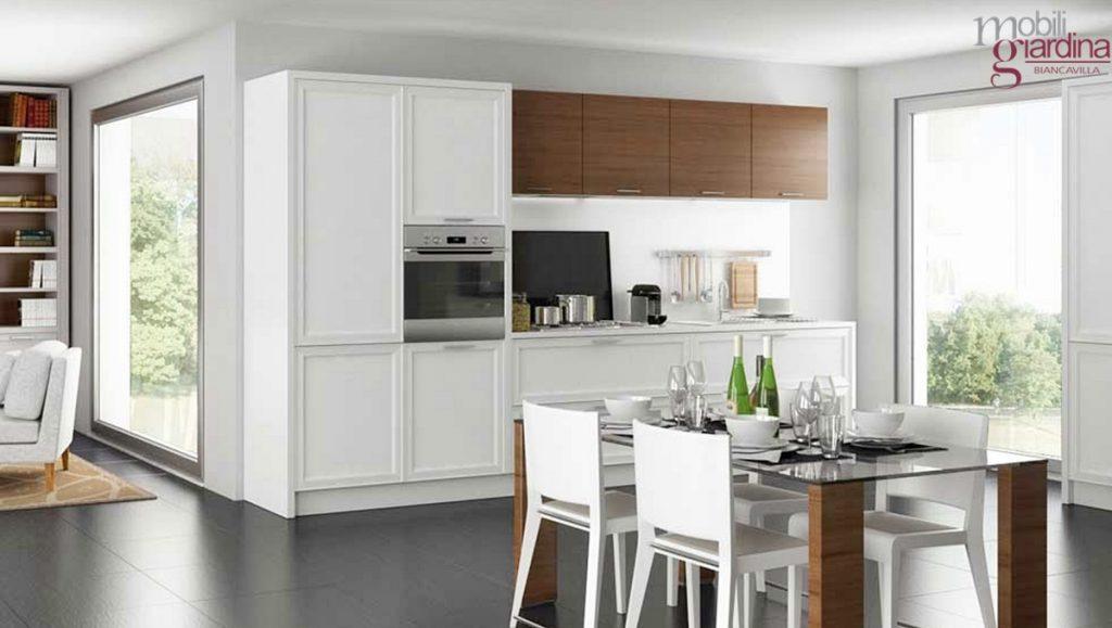 Mobili Contemporanei Cucina : Cucina soggiorno open space arredamento con mobili stile