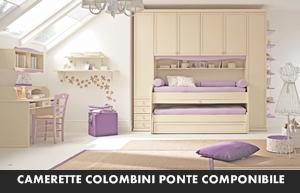 CAMERETTE COLOMBINI ARCADIA PONTE COMPONIBILE – Arredamento a ...