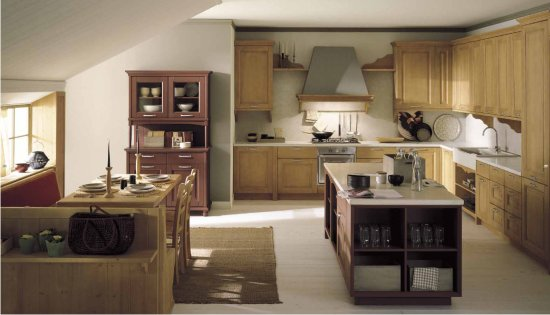 Cucine ad angolo in stile country