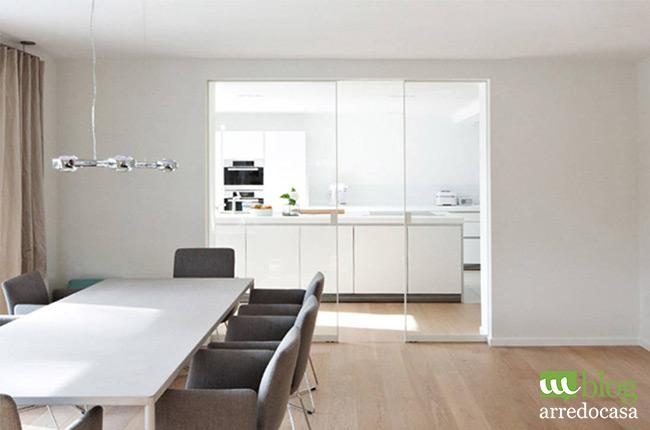 Vediamo ora come dividere una stanza con un armadio divisorio, meglio se bifacciale. Pareti Divisorie E Porte In Vetro Per Cucina E Soggiorno M Blog