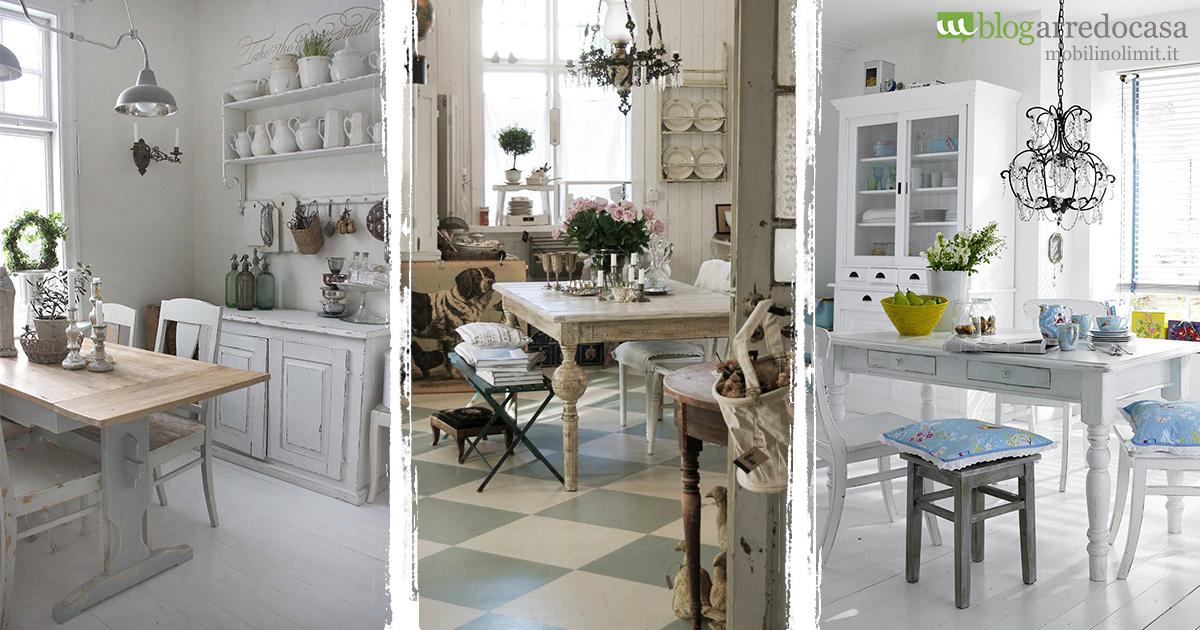 Arredamento shabby per la tua cucina quali mobili