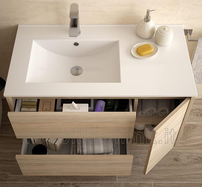 Mobile bagno moderno con lavabo L 85  Caledonia