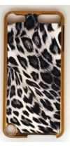 GOLD CHEETAH BLACK SNAP ON IPOD 5-6