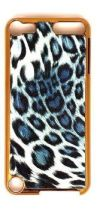 GOLD CHEETAH BLUE SNAP ON IPOD 5-6