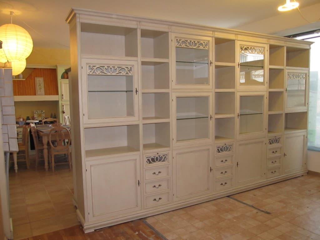 parete libreria componibile provenzale chic
