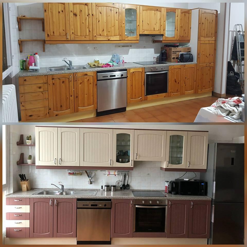 L'abbinamento dei colori delle pareti ai mobili in noce. Colora Le Ante E La Cucina Torna Nuova Idee Passaggi E Foto Mobili Per Passione
