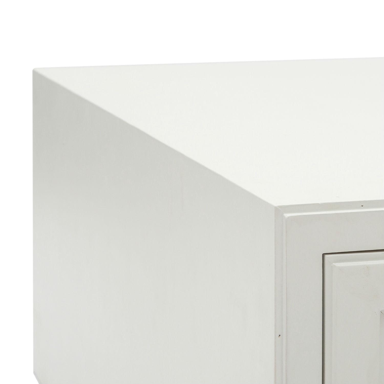 Tavolino Moderno Rettangolare In Legno Laccato Bianco Il
