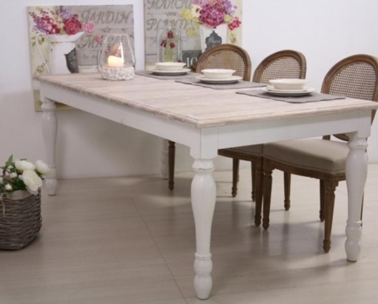 Tavolo legno bianco shabby chic  Mobili Provenzali On Line
