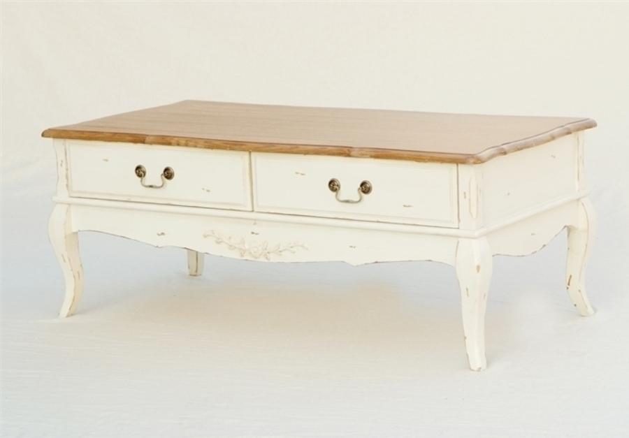 Tris di tavolini bianchi decorati. Tavolo Basso Legno Shabby Chic Mobili Provenzali Shabby Chic On Line