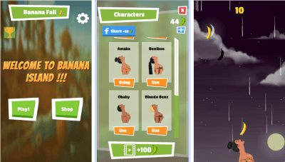 banana fall android mobile game with davido fall soundtrack