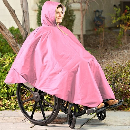 Wheelchair Winter Poncho  full coverage poncho for