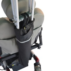 Mobility Chair Accessories Armchair Meaning Crutch Holder For Wheelchairs Or Scooters :: Bag Carrying Crutches