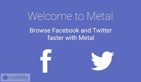 Metal - Save data and storage using Facebook