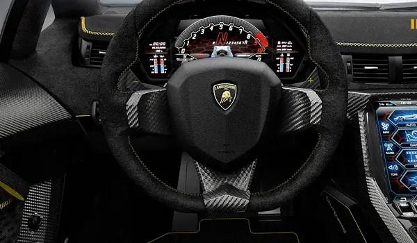 Lamborghini Centanario cockpit