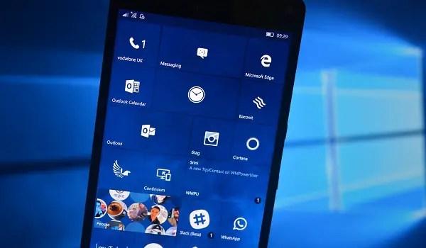 Windows 10 Mobile Creators Update