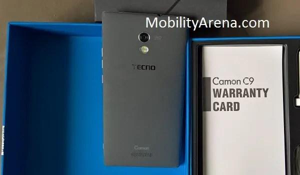 TECNO Camon C9 box open rear