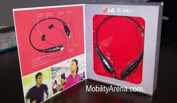 LG Tone+ Bluetooth Headset Open Pack