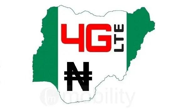 4G tariffs nigeria