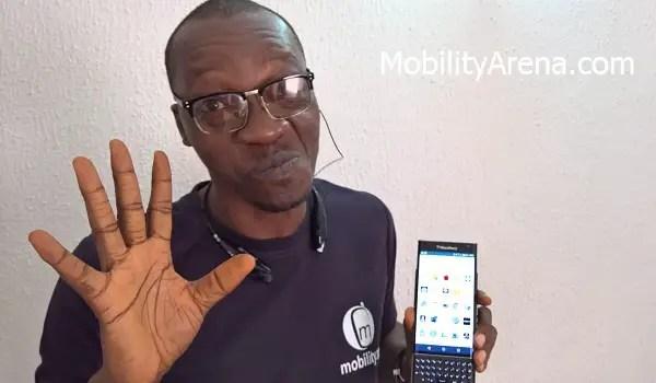BlackBerry Priv Review Mr Mo hand