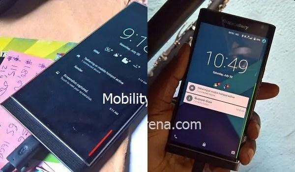 BlackBerry Priv lockscreen charging