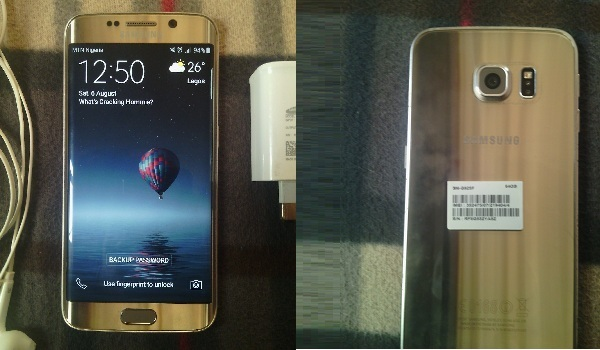 Samsung Galaxy S6 Edge for sale -front back