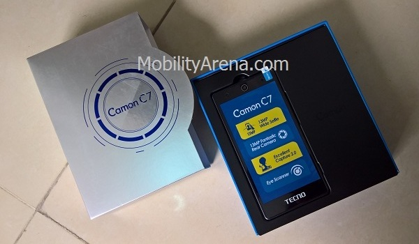 TECNO Camon C7 - box open