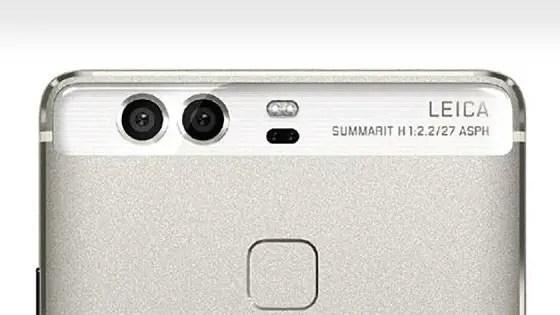 Huawei P9 dual cameras