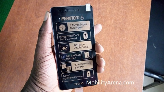 TECNO Phantom 6 Photos -out-of-the-box-in-hand