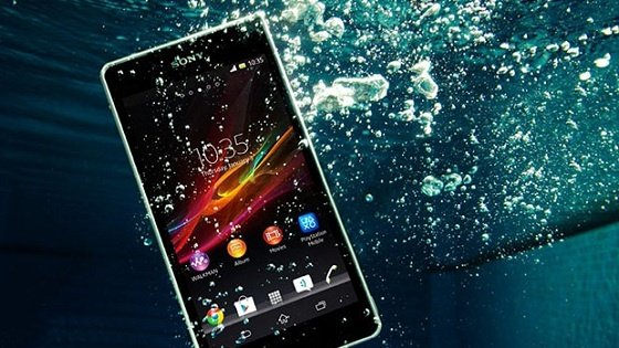 Sony Xperia water resistance