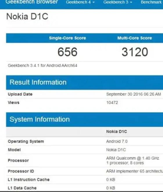 Nokia D1C tablet