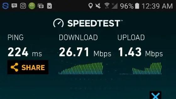 Glo 4G speedtest