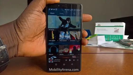Infinix Zero 4 Plus review music app