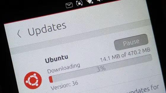 2017 ubuntu smartphone- software update