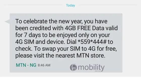 free 4G data