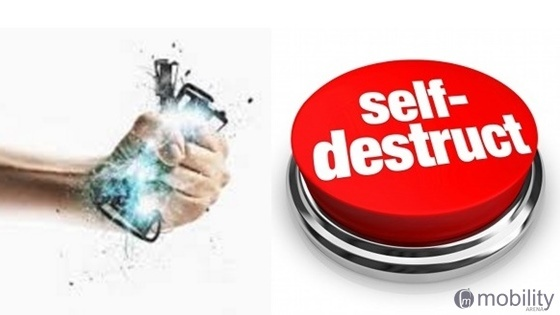 Self destruct phone