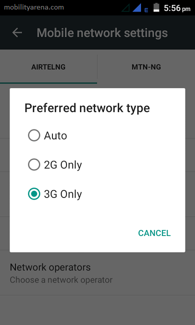 Innjoo X3 review Screenshot network mode