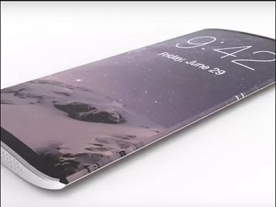 IPhone 8 curved edges