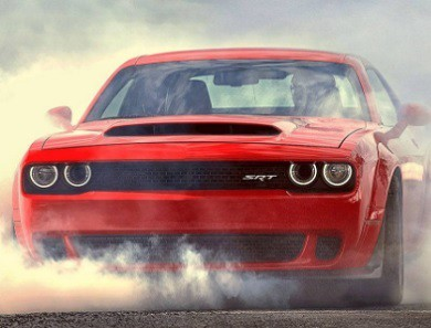 2018 Challenger SRT Demon burn rubber