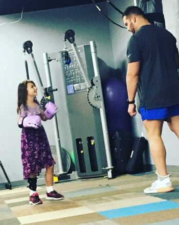 Clayton Rice works with kids who suffer from Cerebral Palsy to overcome physical challenges that they face