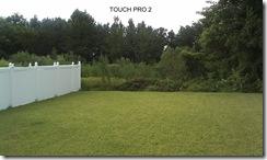 Touch Pro  backyard
