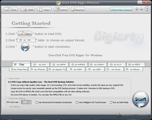 WinX DVD Ripper Platinum Review | MobilityDigest