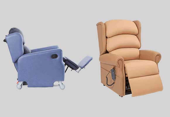 recliner chair hire hickory sofa beds mobility scooter powerchair hospital rise high seat chairs