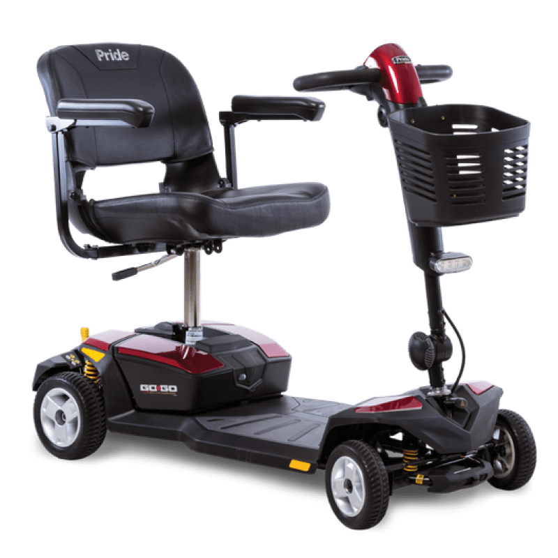 pride mobility lift chair ergonomic small go-go lx with cts 4-wheel scooter