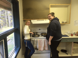 youth employment with housing - podmates cooking at home